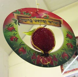 Round Pomegranate Hanging Deco.